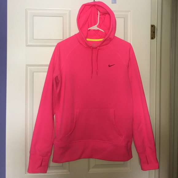 big discount order casual shoes NIKE therma-fit neon pink hoodie